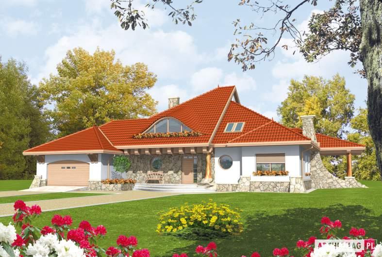 Projekt domu Gustaw G2 - wizualizacja frontowa