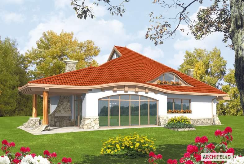 Projekt domu Gustaw G2 - wizualizacja ogrodowa