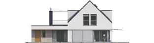 Projekt domu Neo G1 ENERGO PLUS - elewacja tylna
