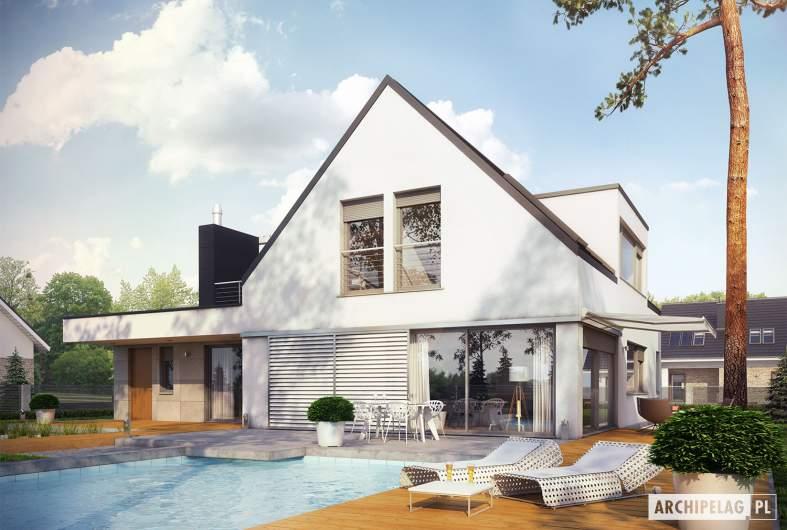 Projekt domu Neo G1 ENERGO PLUS - wizualizacja ogrodowa