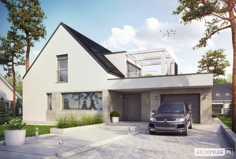 Projekt domu Neo G1 ENERGO PLUS - wizualizacja frontowa