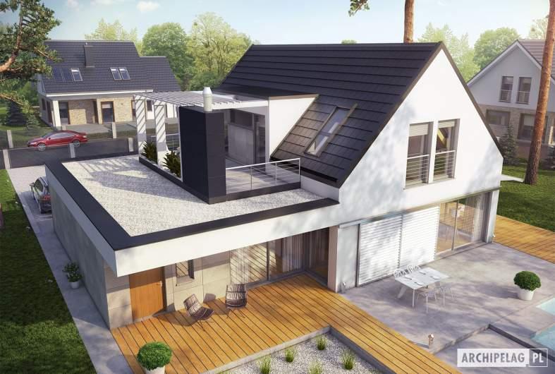 Projekt domu Neo G1 ENERGO PLUS - widok z góry