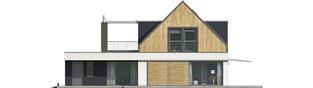 Projekt domu Neo II G1 ENERGO - elewacja tylna