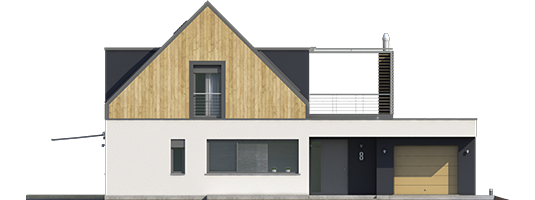 Neo II G1 A++ - Projekt domu Neo II G1 ENERGO - elewacja frontowa