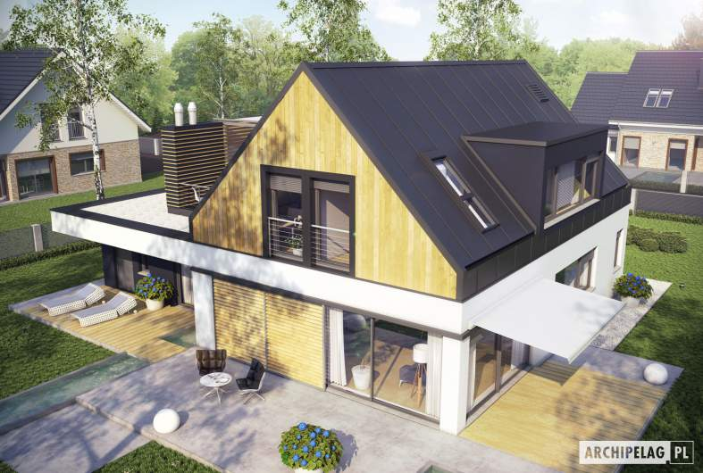 Projekt domu Neo II G1 ENERGO - widok z góry