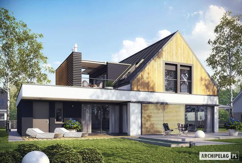 Projekt domu Neo II G1 ENERGO - wizualizacja ogrodowa
