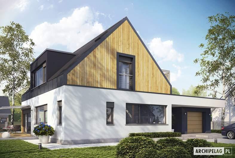 Projekt domu Neo II G1 ENERGO - wizualizacja frontowa