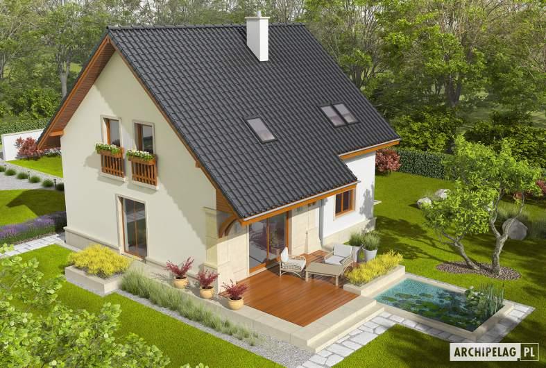 Projekt domu Jurek G1 Leca® DOM - Projekty domów ARCHIPELAG - Jurek G1 Leca® DOM - widok z góry