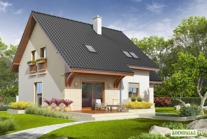 Projekt domu Jurek G1 Leca® DOM - wizualizacja ogrodowa