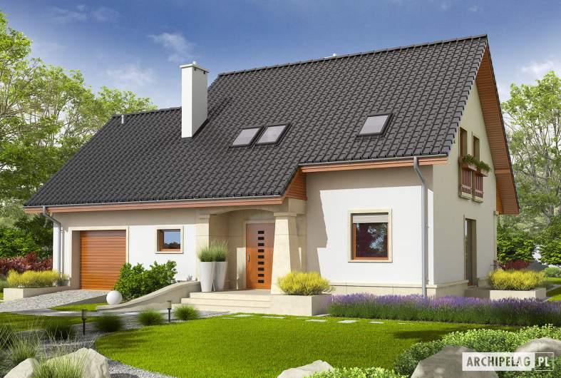 Projekt domu Jurek G1 Leca® DOM - Projekty domów ARCHIPELAG - Jurek G1 Leca® DOM - wizualizacja frontowa