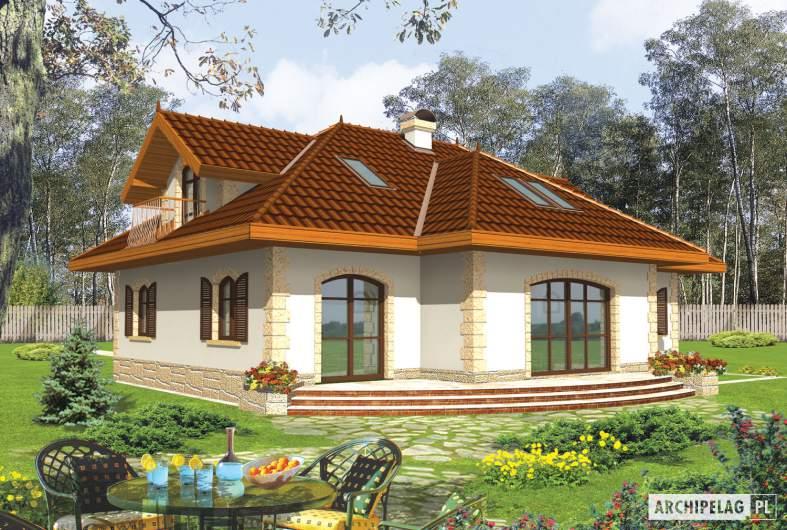 Projekt domu Marysia II G2 - wizualizacja ogrodowa