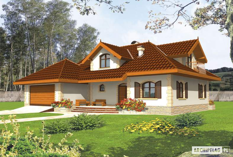Projekt domu Marysia II G2 - wizualizacja frontowa