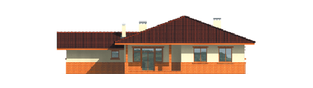 Projekt domu Magda G1 - elewacja tylna