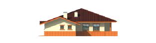 Projekt domu Magda G1 - elewacja prawa