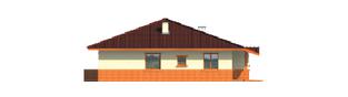 Projekt domu Magda G1 - elewacja lewa