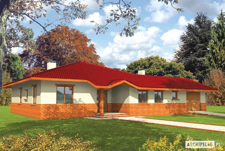 Projekt domu Magda G1 - wizualizacja frontowa
