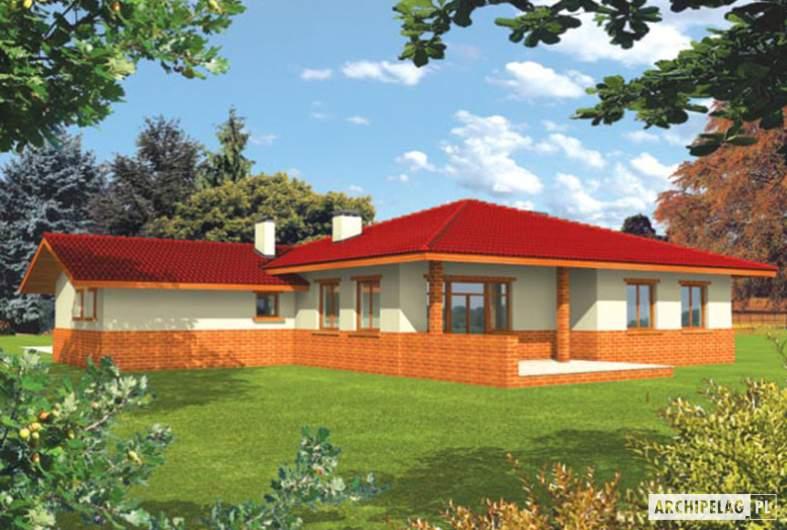 Projekt domu Magda G1 - wizualizacja ogrodowa