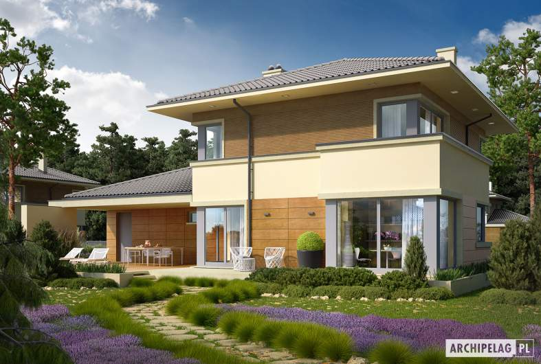 Projekt domu Rodrigo II G2 - wizualizacja ogrodowa
