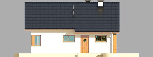 Tori III ECONOMIC A - Projekt domu Tori III ECONOMIC (wersja A) - elewacja frontowa
