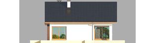 Projekt domu Tori III ECONOMIC (wersja A) - elewacja tylna