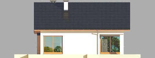 Tori III ECONOMIC A - Projekt domu Tori III ECONOMIC (wersja A) - elewacja tylna