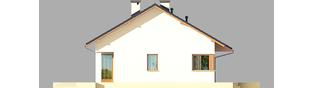 Projekt domu Tori III ECONOMIC (wersja A) - elewacja lewa