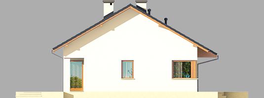 Tori III ECONOMIC A - Projekt domu Tori III ECONOMIC (wersja A) - elewacja lewa