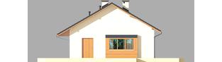 Projekt domu Tori III ECONOMIC (wersja A) - elewacja prawa