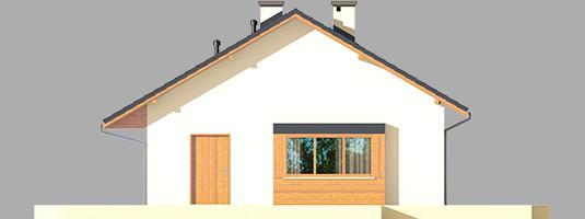 Tori III ECONOMIC A - Projekt domu Tori III ECONOMIC (wersja A) - elewacja prawa