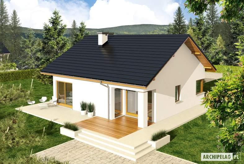 Projekt domu Tori III ECONOMIC (wersja A) - widok z góry