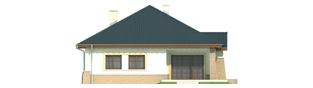 Projekt domu Mikołaj G1 - elewacja tylna