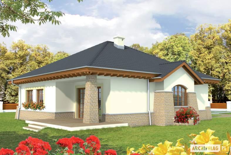Projekt domu Mikołaj G1 - wizualizacja ogrodowa