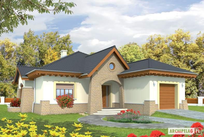 Projekt domu Mikołaj G1 - wizualizacja frontowa