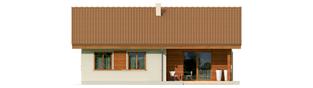 Projekt domu Mel - elewacja tylna