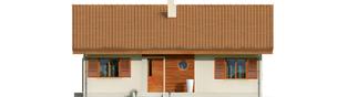 Projekt domu Mel - elewacja frontowa