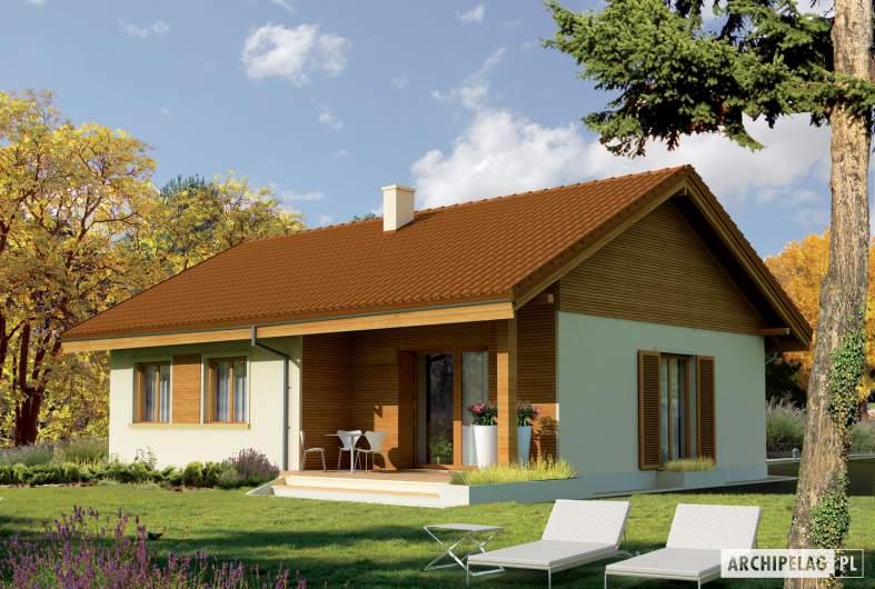 Projekt domu Mel - wizualizacja ogrodowa