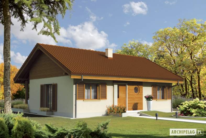 Projekt domu Mel - wizualizacja frontowa