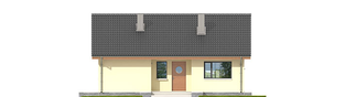 Projekt domu Rafael VI ECONOMIC (30 stopni) - elewacja frontowa
