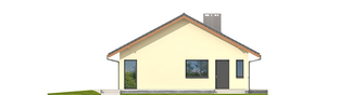 Projekt domu Rafael VI ECONOMIC (30 stopni) - elewacja lewa