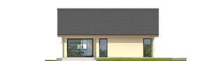 Projekt domu Rafael VI ECONOMIC (30 stopni) - elewacja tylna