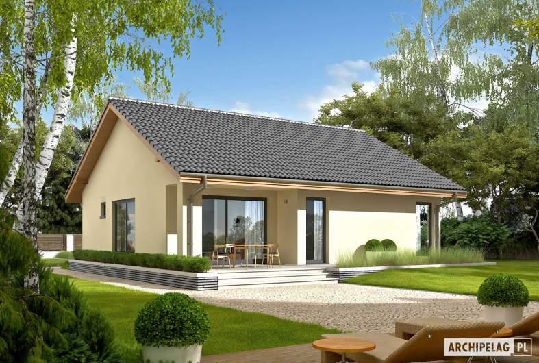 Projekt domu Rafael VI ECONOMIC (30 stopni) - wizualizacja ogrodowa