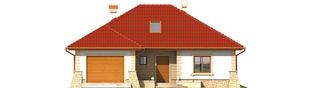 Projekt domu Afra G1 - elewacja frontowa