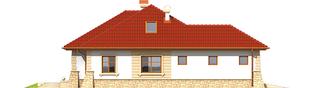 Projekt domu Afra G1 - elewacja lewa