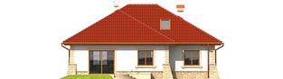 Projekt domu Afra G1 - elewacja tylna