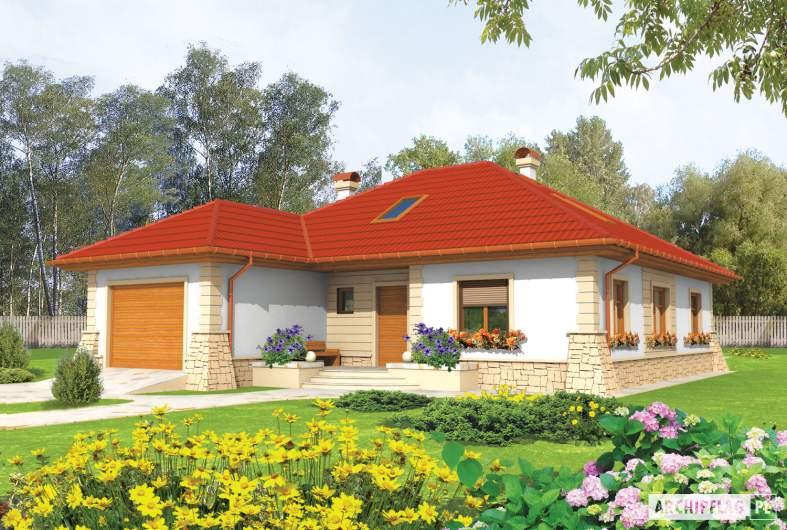 Projekt domu Afra G1 - wizualizacja frontowa