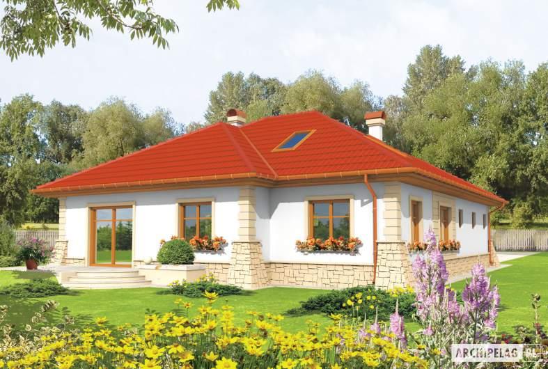 Projekt domu Afra G1 - wizualizacja ogrodowa
