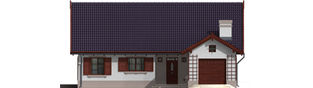 Projekt domu Klementynka G1 - elewacja frontowa