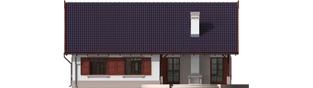 Projekt domu Klementynka G1 - elewacja tylna