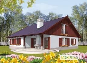 Projekt domu Klementynka G1 - animacja projektu