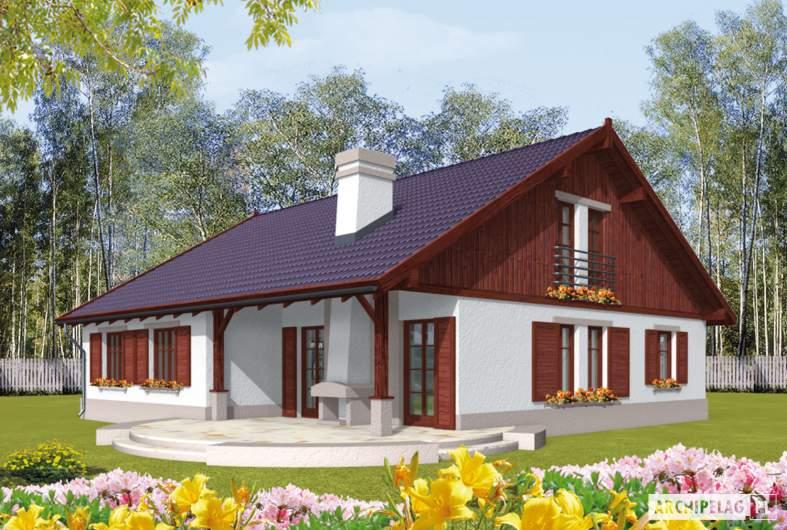 Projekt domu Klementynka G1 - wizualizacja ogrodowa